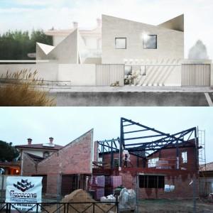 Casa Albania en construcción by OOIIO Arquitectura.