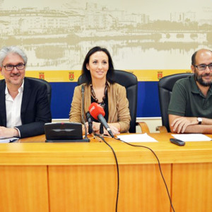 Recepción en el Ayuntamiento de Talavera a los arquitectos participantes.